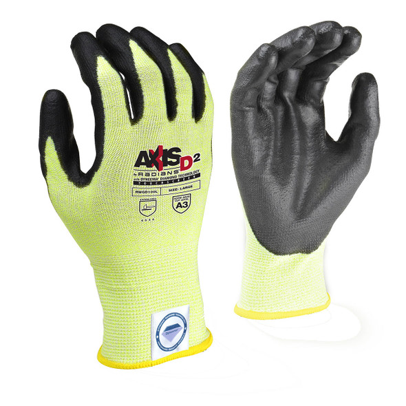 Radians Box of 12 Pair Touchscreen ANSI Cut Level A3 Dyneema Gloves RWGD100 Pair