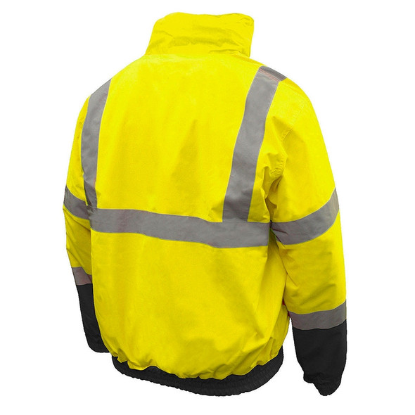 Radians Class 3 Hi Vis Green 2-in-1 Bomber Jacket SJ110B-3ZGS Back