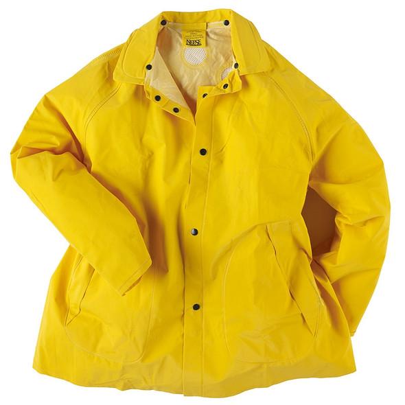 Neese 1600JH Non-ANSI Hi Vis Economy Rain Jacket with Detachable Hood 10160-01 Front