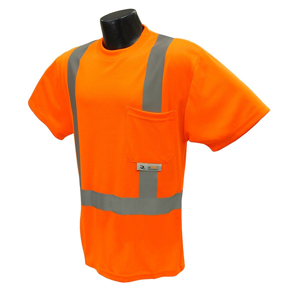 Radians Class 2 Hi Vis Orange Moisture Wicking T-Shirt ST11-2POS Front