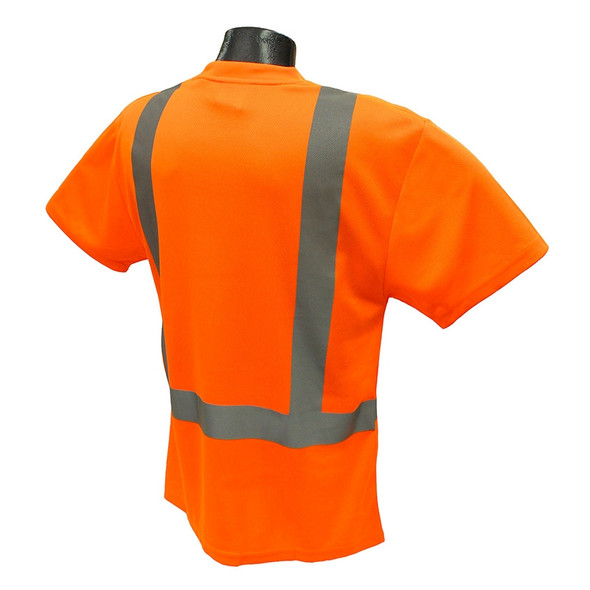 Radians Class 2 Hi Vis Orange Moisture Wicking T-Shirt ST11-2POS Back