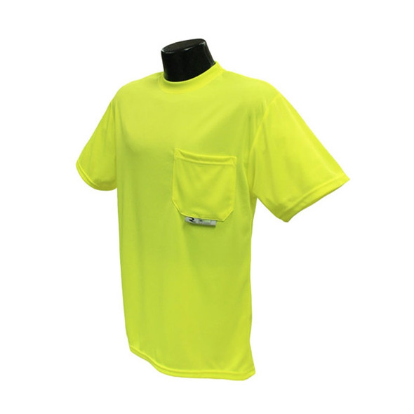 Radians Non ANSI Hi Vis MAX-DRI Moisture Wicking Mesh T-Shirt ST11-N Yellow