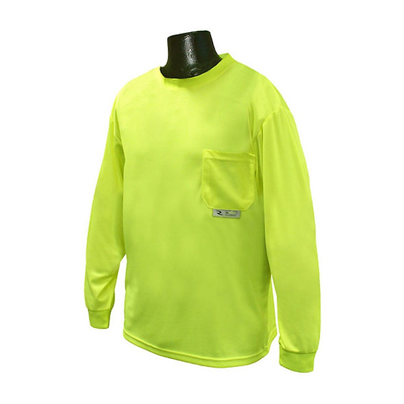 Radians Non-ANSI Hi Vis Green Moisture Wicking Long Sleeve T-Shirt ST21-N Front