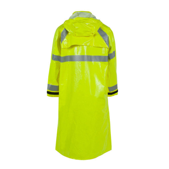 "Neese FR Class 3 Hi Vis Yellow 227AC Dura Arc I 48"" Raincoat 22227-30 Back"