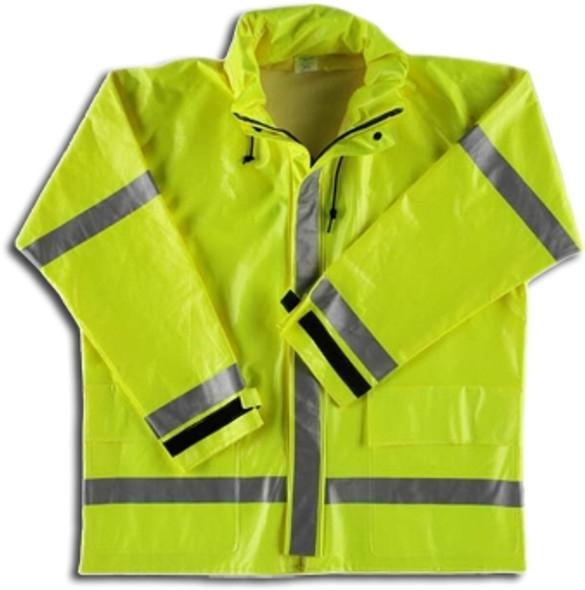Neese FR Class 3 Hi Viz Lime 267AJ Dura Arc II Rain Jacket 26267-00