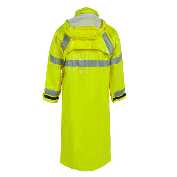 "Neese FR Class 3 Hi Vis Yellow 276AC 48"" Rain Jacket 26267-30 Back"