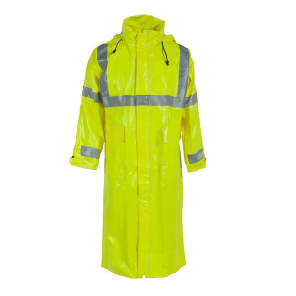 "Neese FR Class 3 Hi Vis Yellow 276AC 48"" Rain Jacket 26267-30 Front"