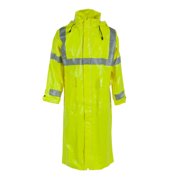 Neese FR Class 3 Hi Viz Lime Made in USA Rain Jacket 26267-30 Front