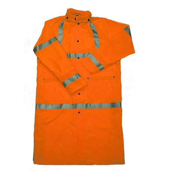 Class 3 Orange Full Length Raincoat 29092-30