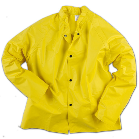 Neese Non-ANSI Hi Vis Yellow 35SJ Rain Jacket with Snaps for Hood 35001-01