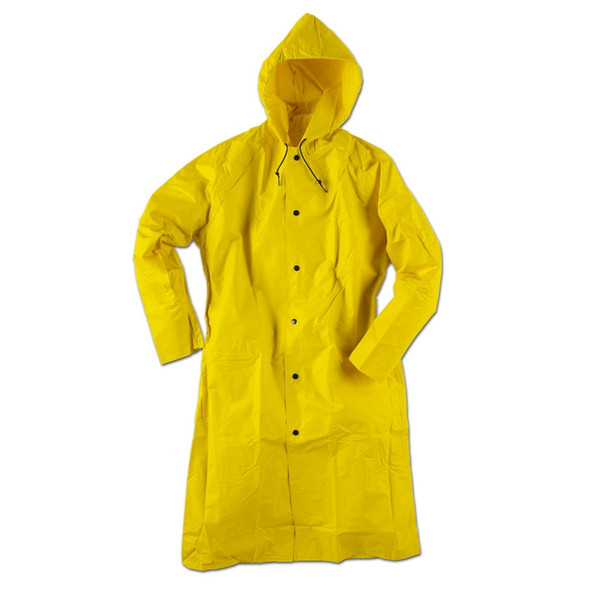 Neese Non-ANSI Hi Vis Yellow 35AC Full Length Raincoat with Hood 35001-30 Front