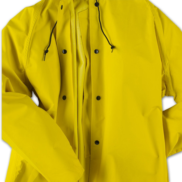 Neese ASTM F903 Magnum 45AJ Yellow Industrial Rain Jacket 45001-00 Snaps