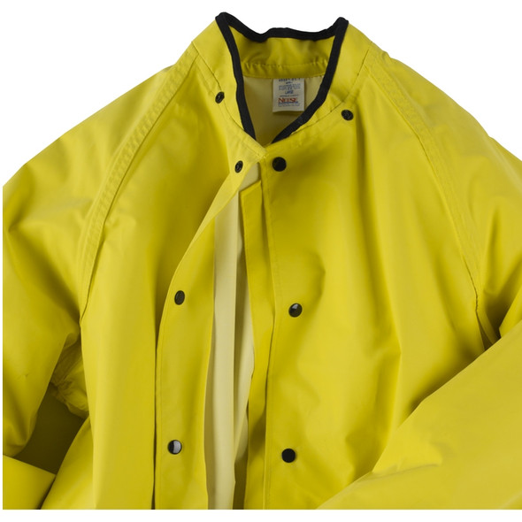 Neese ASTM F903 Yellow 45SJ Magnum Industrial Rain Jacket 45001-01 Snaps