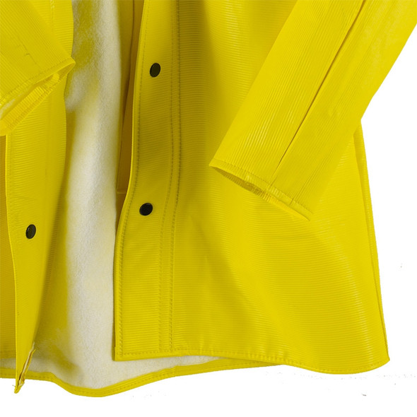 Neese Dura Quilt 56AJ Yellow Industrial Rain Jacket with Hood 56001-00 Snaps