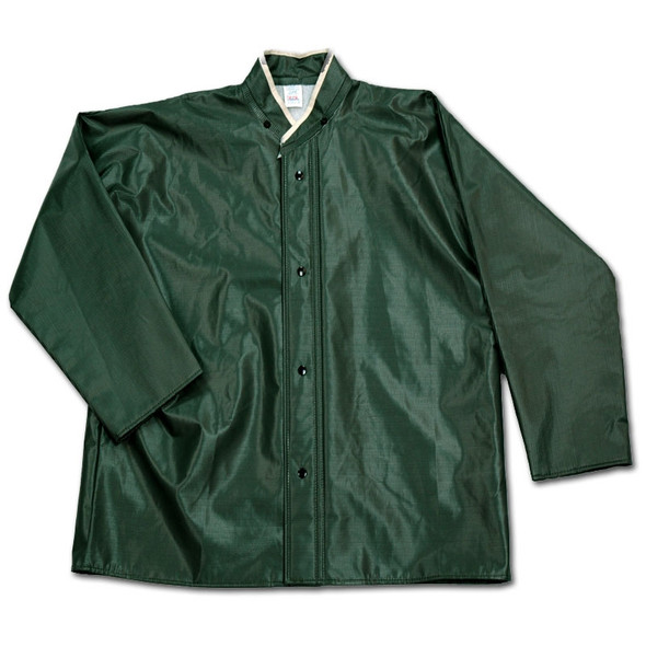 Neese Dura Quilt 56SJ Green Industrial Rain Jacket 56001-01 Close Up
