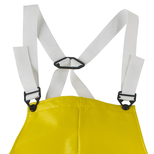 Neese Dura Quilt Yellow Industrial Bib Trouser with Safety Fly 56001-13 Straps