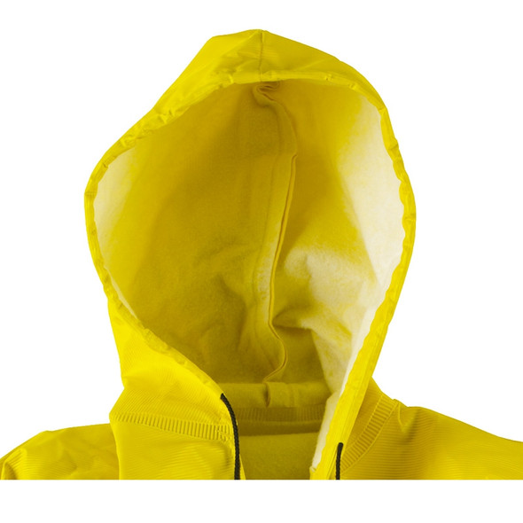 Neese Non-ANSI Hi Vis Yellow Dura Quilt 56AC Full Length Raincoat with Hood 56001-30 Hood