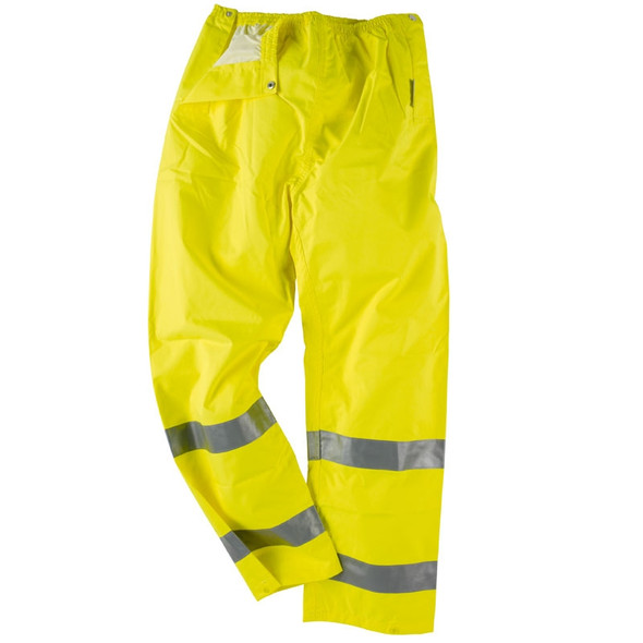 Neese Class E Hi Vis Air-Tex Waterproof Elastic Waist Rain Pants 9100ET Close Up