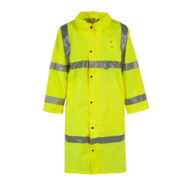 Neese Class 3 Hi Vis Yellow Full Length Raincoat 9100SC Front