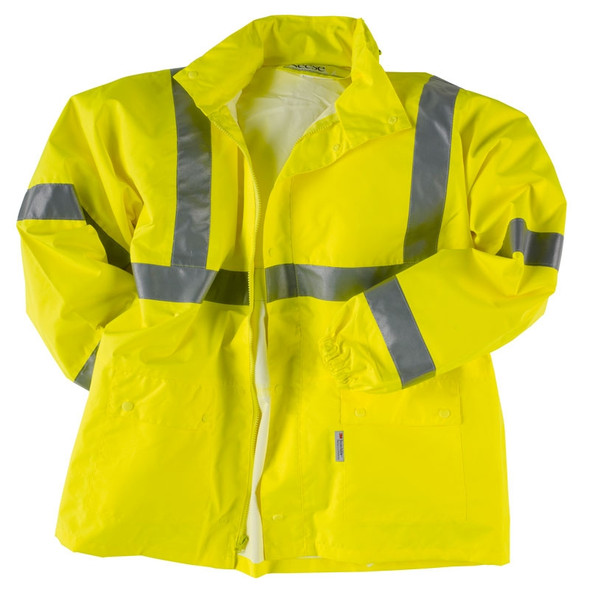 Neese Class 3 Hi Vis Waterproof Air-Tex Rain Jacket 9100APK Close Up