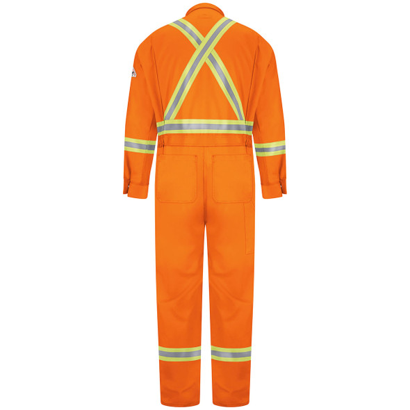 Bulwark FR X-Back Enhanced Visibility Excel 2 Tone Coverall CLBC Orange Back
