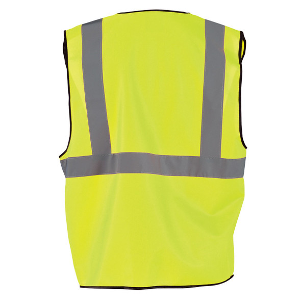 Occunomix Class 2 Hi Vis Economy Safety Vest ECO-G Yellow Back