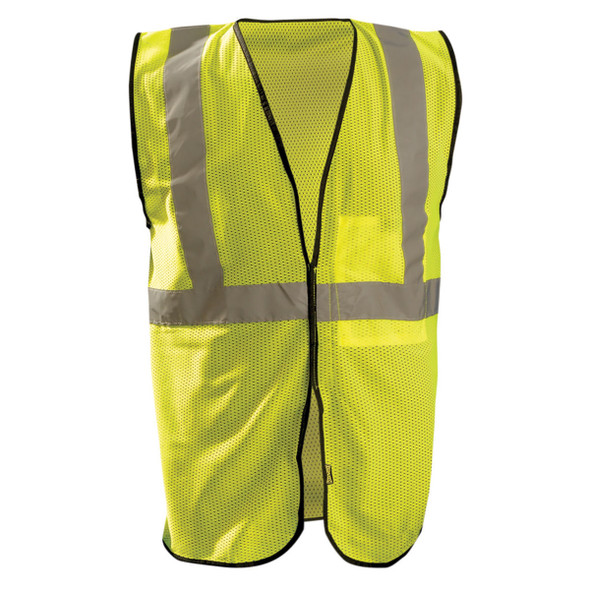 Occunomix Class 2 Hi Vis Economy Mesh Construction Vest ECO-GC Yellow Front