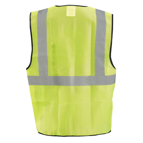 Occunomix Class 2 Hi Vis Economy Mesh Construction Vest ECO-GC Yellow Back