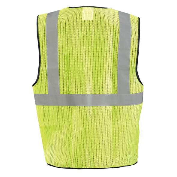 Occunomix Class 2 Hi Vis Economy Mesh Construction Vest ECO-GC Yellow Back
