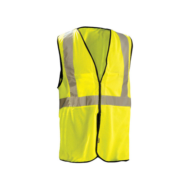 Occunomix Class 2 Hi Vis Economy Break Away Mesh Vest ECO-GCB Yellow Front