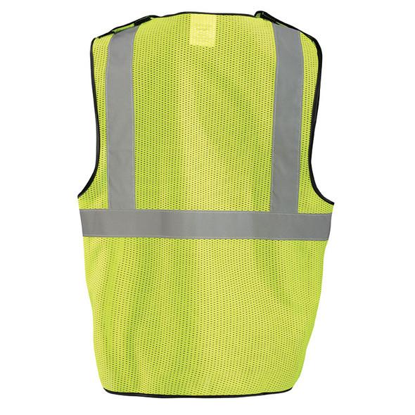 Occunomix Class 2 Hi Vis Economy Break Away Mesh Vest ECO-GCB Yellow Back