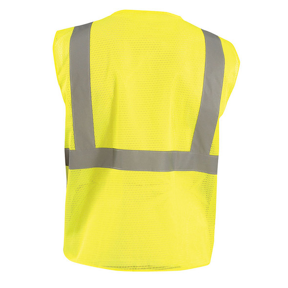 Occunomix Class 2 Hi Vis Mesh Value Economy Safety Vest ECO-IM Yellow Back