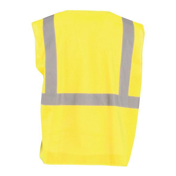 Occunomix Class 2 Hi Vis Mesh Economy Safety Vest ECO-IMZ Yellow Back