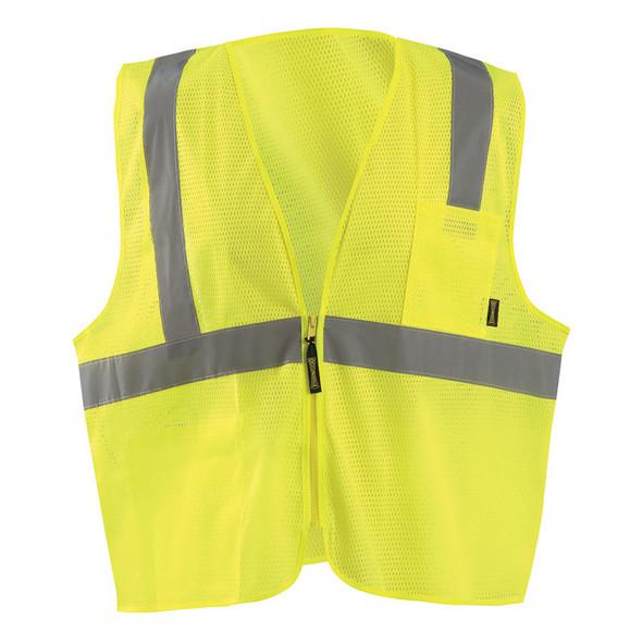 Occunomix Class 2 Hi Vis Mesh Economy Safety Vest ECO-IMZ Yellow Front