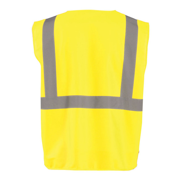Occunomix Class 2 Hi Vis Economy Zipper Vest ECO-ISZ Yellow Back