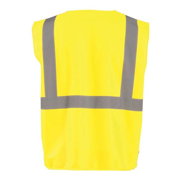 Occunomix Class 2 Hi Vis Economy Zipper Vest ECO-ISZ Yellow Back