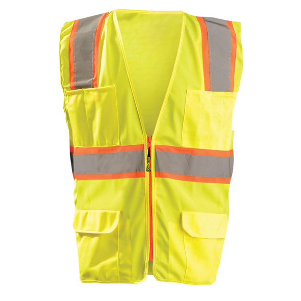 Occunomix Class 2 Hi Vis 7 Pocket Surveyor Vest LUX-ATRANS Yellow