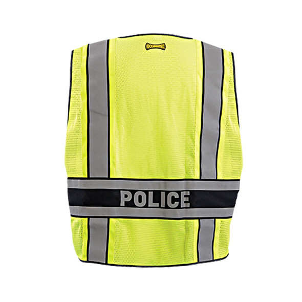Occunomix Class 2 Hi Vis Yellow Police Public Safety DOR Vest LUX-DPSP-DOR Back