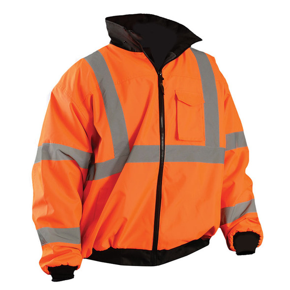 Occunomix Class 3 Hi Vis Bomber Jacket LUX-ETJBJ Orange Front