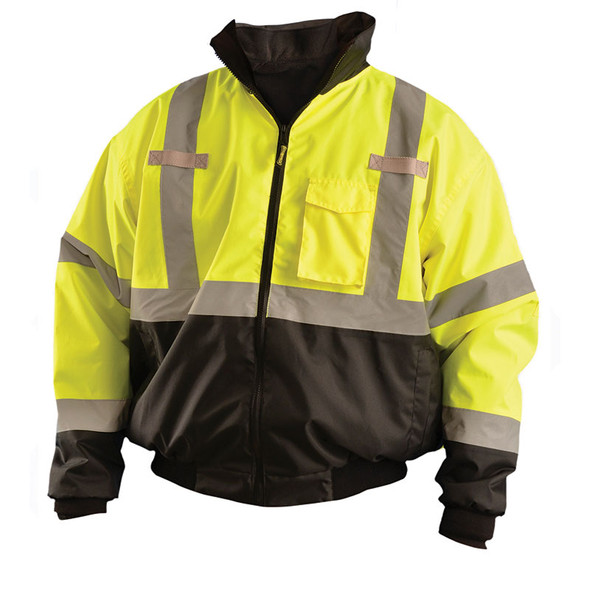 Occunomix Class 3 Hi Vis Yellow 3-in-1 Black Bottom Bomber Jacket LUX-ETJBJR