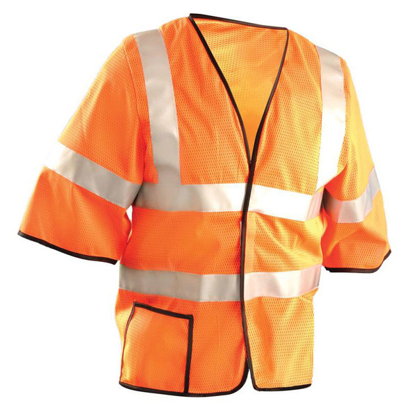 Occunomix Class 3 Hi Vis Mesh Safety Vest LUX-HSCOOL3 Orange