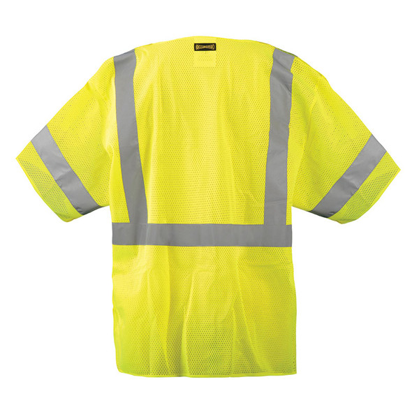 Occunomix Class 3 Hi Vis Mesh 5-PT Break-Away Vest LUX-HSGCB Back