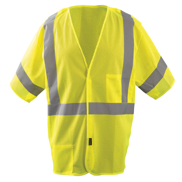 Occunomix Class 3 Hi Vis Mesh 5-PT Break-Away Vest LUX-HSGCB Front