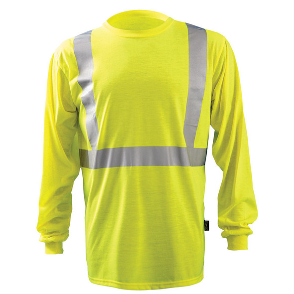 Occunomix Class 2 Hi Vis Moisture Wicking Long Sleeve T Shirt LUX-LST2