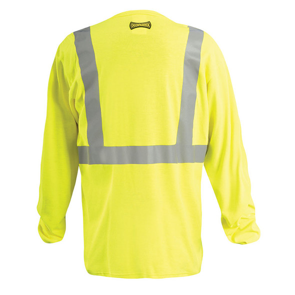 Occunomix FR Class 2 Hi Vis Yellow Long Sleeve T-Shirt LUX-LST2-FR Back