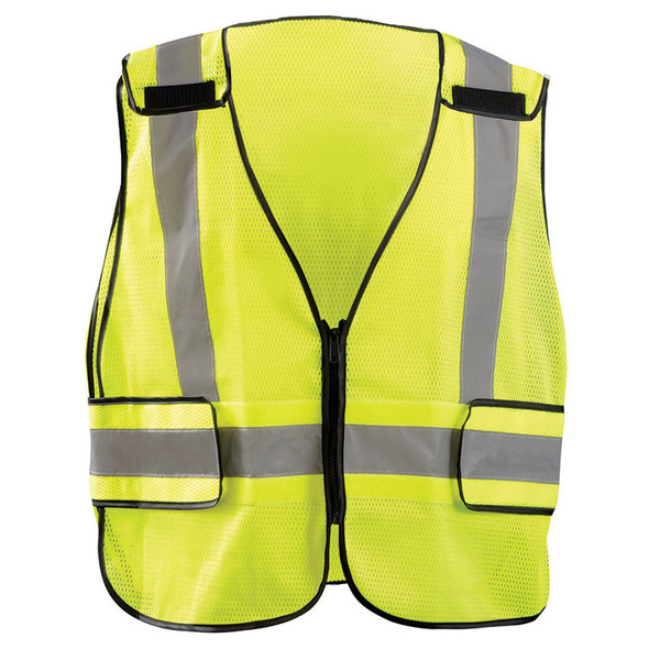 Occunomix Class 2 Hi Vis Yellow Public Safety Mesh DOR Vest LUX-PS-DOR Front