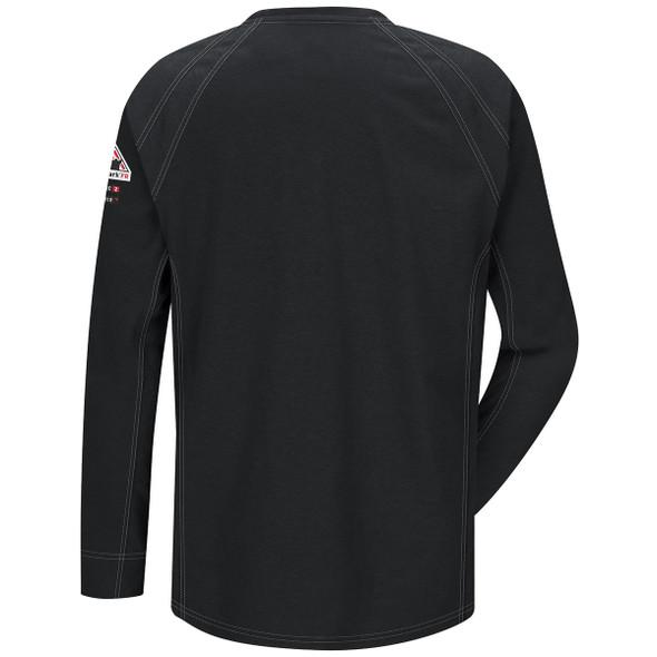 Bulwark FR iQ Series Comfort Knit Long Sleeve T-Shirt QT32 Black Back