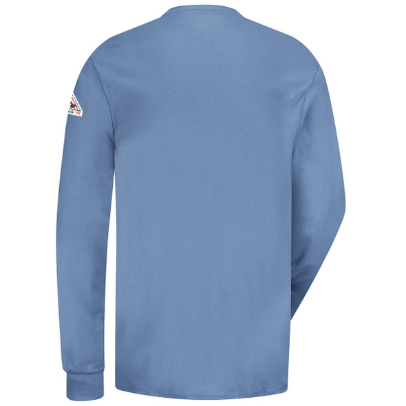 Bulwark FR 6.25 oz. Excel Henley Shirt SEL2 Light Blue Back