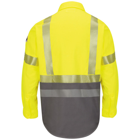 Bulwark FR Class 3 Hi-Vis Color Block Uniform Shirt ComforTouch SLB4HG Back