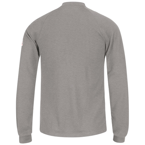 Bulwark FR 6.25 oz. Henley Shirt SML2 Gray Back